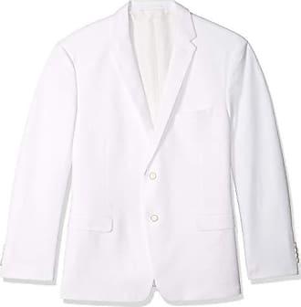 U.S.Polo Association Mens Big and Tall Cotton Blend Knit Sport Coat, White, 52 Regular