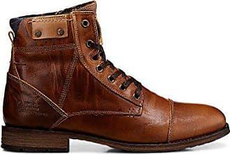 Cox Textil Biker Stiefelette Leder braun mittel Boots