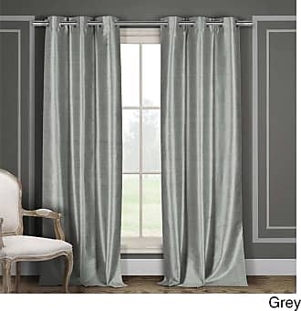 Duck River Textiles Home Fashion Faux Linen Metallic Textured Grommet Top Window Curtains for Living Room /& Bedroom 40 X 84 Inch - Black Set of 2 Panels Assorted Colors
