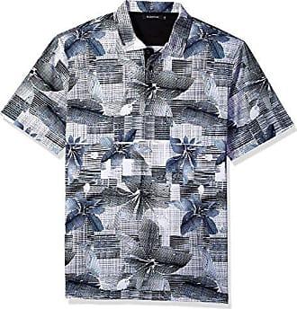 Bugatchi Mens Short Sleeve Trim Fit Digital Printed Polo Shirt