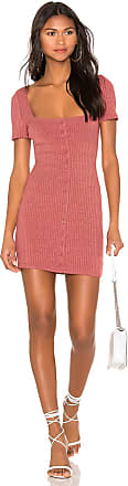 Minkpink Cherry Button Front Dress in Red