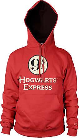Harry Potter Officially Licensed Hogwarts Express Platform 9-3/4 Hoodie (Red), X-Large