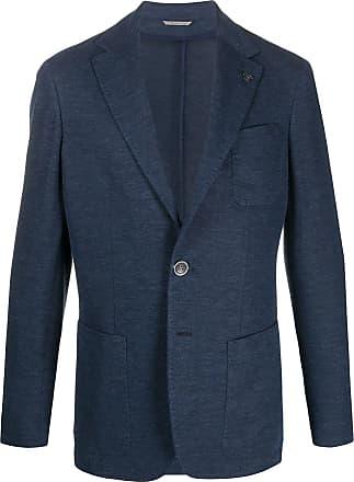 Canali Blazer com bolso - Azul