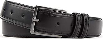 Van Heusen Mens Flex Dress Belt Double Loop, Black, Medium