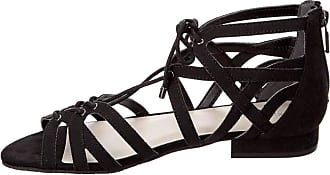 Kenneth Cole Womens Villa Open Toe Casual Gladiator, Black, Size 5.0 US US
