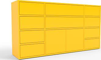 MYCS Kommode Gelb - Lowboard: Schubladen in Gelb & Türen in Gelb - Hochwertige Materialien - 154 x 80 x 35 cm, konfigurierbar