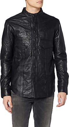 Religion Mens Decade Leather Jacket, Black (Black 001), Large (Size:L)
