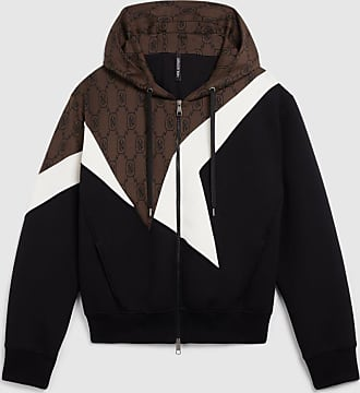 Neil Barrett Monogram Bauhaus Modernist Bonded Zip-up Hoodie