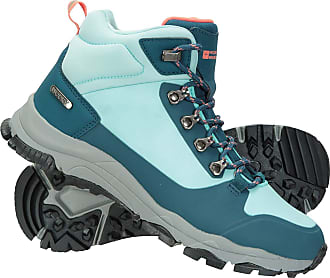 Mountain Warehouse Karakoram Tech Womens Waterproof Boots - Hardwearing Ripstop Upper Shoes, Cushioned Midsole Footwear, Grippy Rubber -Best for Walking, Hiking, Camping
