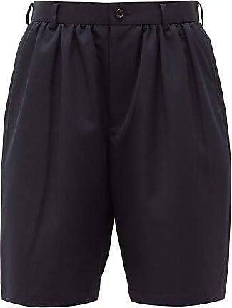 Comme Des Garçons Comme Des Garçons Girl - High-rise Gathered Crepe Shorts - Womens - Navy