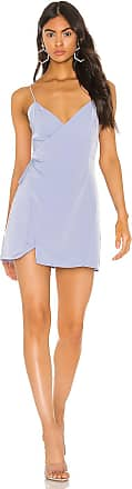 Superdown Luca Wrap Front Dress in Baby Blue