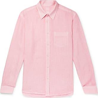 120% CASHMERE Garment-dyed Linen Shirt - Pink