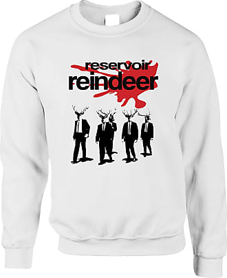 Tim And Ted Chrismas Parody Jumper Reservoir Reindeer Sweatshirt Sweater - (White/Small)