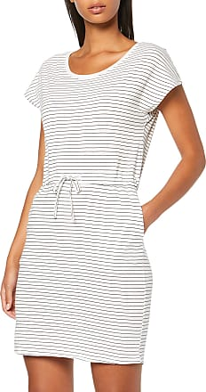 Vero Moda Womens Vmapril Ss Short Dress Ga Noos, Multicolour (Snow White Stripes: Black-Rebecca), 16 (Size: X-Large)