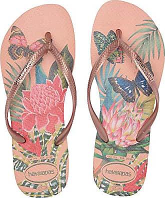 2d85ce9c3156dc Havaianas Slim Tropical Flip Flop Sandal, Salmon Nude, ((7-8 M