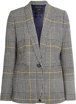 J.crew Parke Prince Of Wales Checked Tweed Blazer - Black