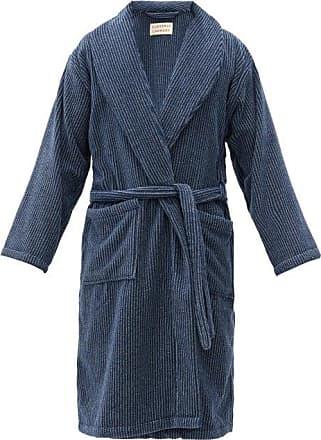 Cleverly Laundry Peignoir en coton éponge rayé