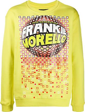 Frankie Morello Moletom decote careca com estampa gráfica - Amarelo