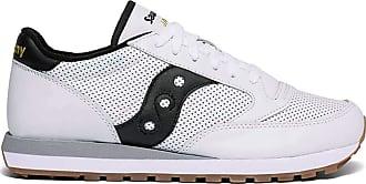 Saucony Mens Jazz Original Leather Sneaker, White/Black, 8 UK
