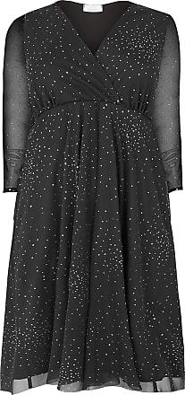 Yours Clothing Clothing Womens Plus Size Wrap Dress Size 26-28 Black