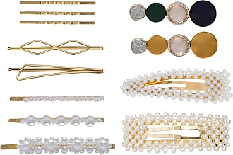 Zhhlaixing 12 PCS Pearl Hair Clip Handmade Decorative Artificial Pearl Hair Pins Barrettes for Women Girls Bridal Bridesmaid Party Ceremony Wedding Birthday Gift
