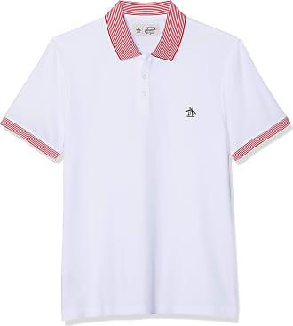 551754604 Original Penguin Mens Stars and Stripes Polo Shirt, White (Bright White ),  Large