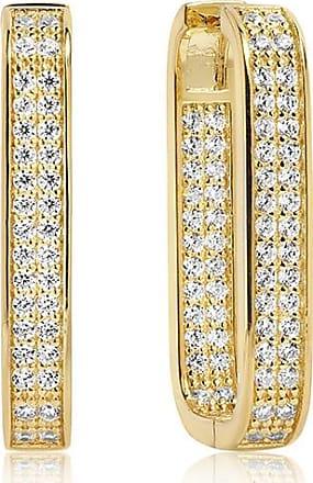 Sif Jakobs Jewellery Ohrringe Matera Grande - 18 kt. vergoldet mit weißen Zirkonia