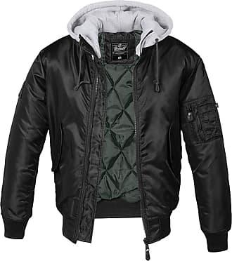 Brandit MA-1 Sweat Jacket Hooded Flight Jacket - black - XXXXX-Large