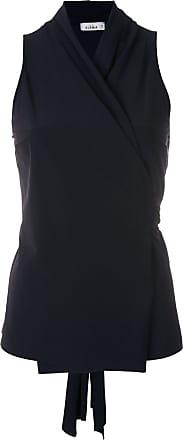 Amir Slama sleeveless wrap blouse - Black