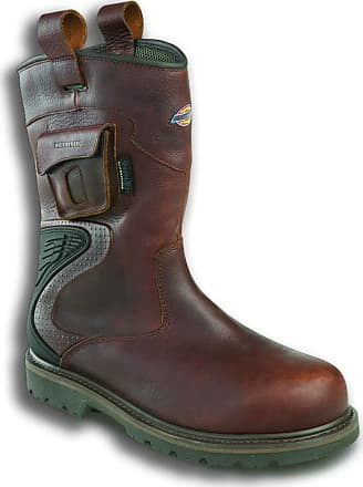 Dickies Workwear Slip On Rigger Boots - Texan Size 6 UK Brown