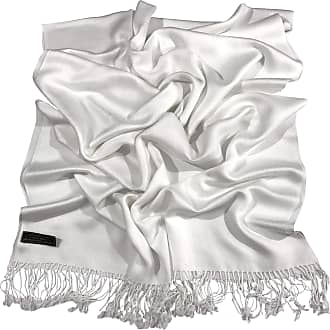 CJ Apparel Ivory Solid Colour Design Nepalese Shawl Seconds Scarf Wrap Stole Throw Pashmina NEW