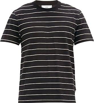 Ami Ami - Striped Cotton-jersey T-shirt - Mens - Black White