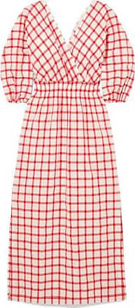 Mara Hoffman Nami Checked Organic Cotton Dress - Red