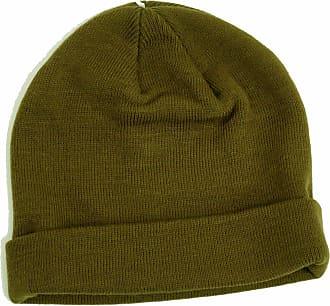 Topman Mens Khaki Mini Fit Beanie Ribbed Hat One Size