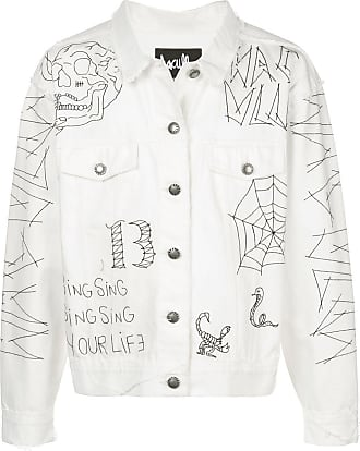 Haculla Tatted embroidered denim jacket - White