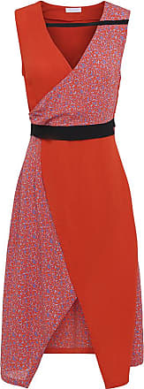 2nd Day 2ND Francine Camo ärmelloses Kleid in Mandarin Red - UK8 - Blue/Red