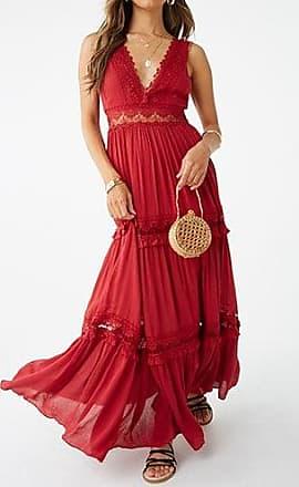 Forever 21 Forever 21 Crochet Maxi Dress Brick