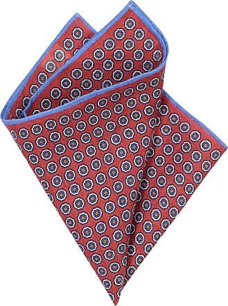 Altea Übergröße : Altea, Einstecktuch, Punktmuster in Rot für Herren