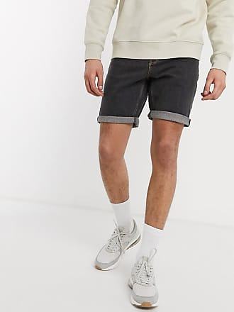 Asos Smalle denim shorts in retro zwart