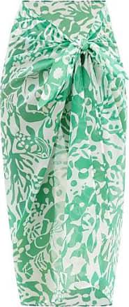 Eres Blackfish Coralsand-print Cotton Sarong - Womens - Green