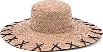 ále by Alessandra Womens Rebel 5-inch Brim Boater Sunhat Packable & Adjustable, Natural/Black, One Size