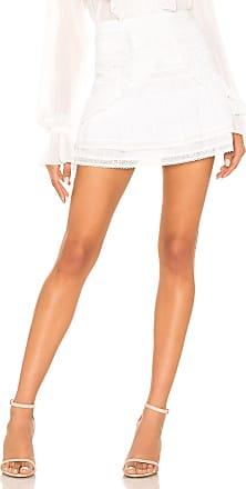 LoveShackFancy Dahlia Skirt in White