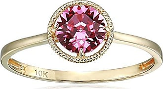 Amazon Collection 10k Gold Swarovski Crystal October Birthstone Ring, Size 8