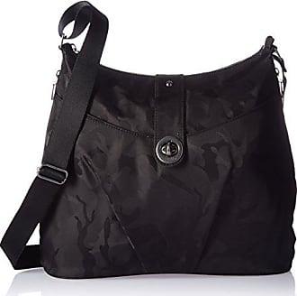 Baggallini HEL868 Womens Helsinki Shoulder Bag, Black Camo