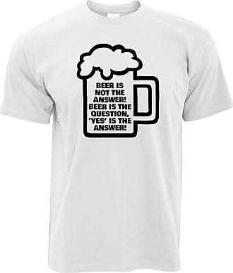 Tim And Ted Novelty T Shirt Beer is Not The Answer, Yes is White XXX-Large