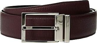 Salvatore Ferragamo Double Adjustable Gancino Calf Belt (679081) (Wine) Mens Belts