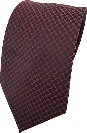 TigerTie tie necktie brown red-brown copperbrown black patterned - Tie necktie