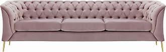SLF24 Chesterfield Modern 3 Seater Sofa-Velluto 14-gold metal