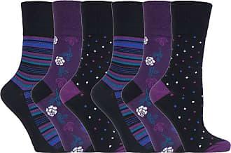 SockShop 6 pairs Ladies SockShop Cotton Gentle Grip UK 4-8, EUR 37-42 Socks - NEW variations (6 x RH138)