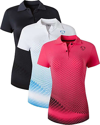 Jeansian Womens 3 Packs Sport Quick Dry Polo T-Shirt SWT251 PackD XL